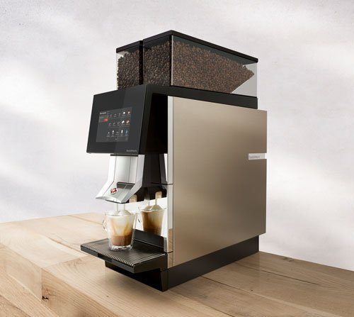 Thermoplan coffee machine on wood slab