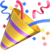 Party popper icon colored