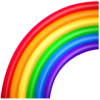 Rainbow icon colored