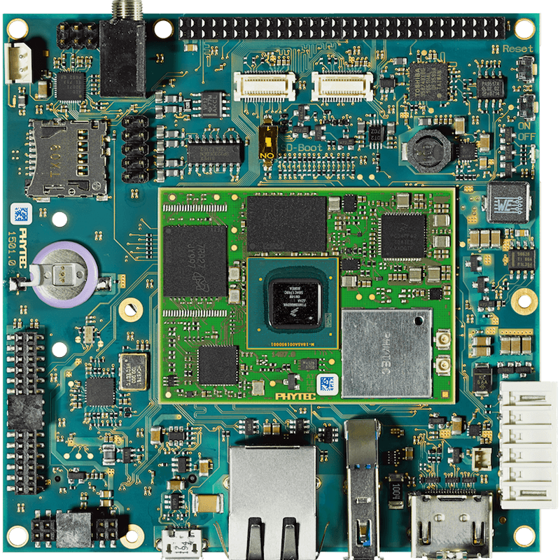 PHYTEC phyBOARD-i.MX 8M Single Board Computer top view