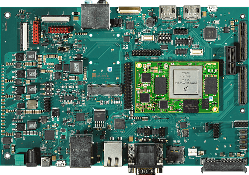 phyCORE-i.MX 8 System on Module on Carrier Board