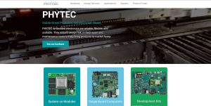 PHYTEC homepage overview